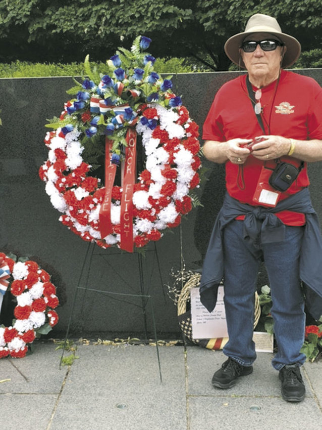 Korean War veteran Bill Erickson of Port Townsend visited the Tomb of the Unknown Soldier and other memorials in Washington D.C. as part of the Honor Flight program. Courtesy photo of Kathleen Lombardy