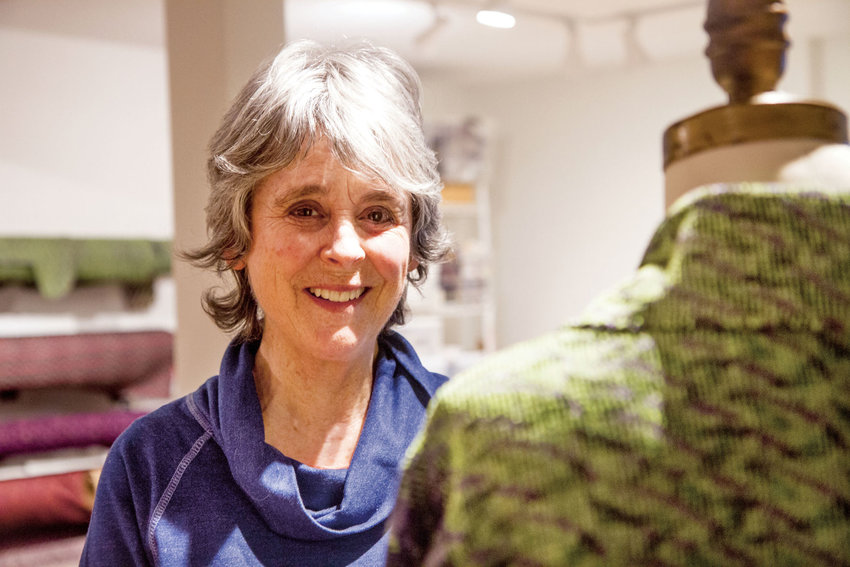 Joyce Wilkerson is a textile artist in Port Townsend. She sells her wearable art creations through galleries in Seattle, Santa Fe and Oregon, and has been making pieces for the Port Townsend Wearable Art Show since its inception. Photo by Katie Kowalski