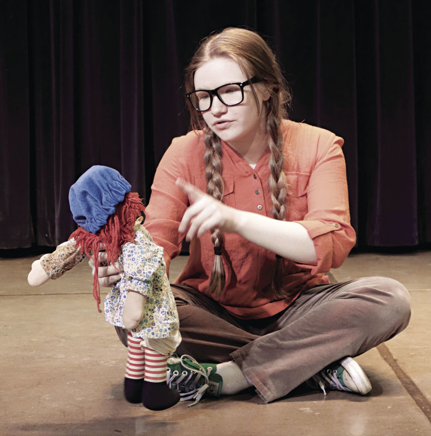 "Meg Murry (Sophia Breithaupt) begins her adventures in ""A Wrinkle in Time"" as a misunderstood girl. Presented by OCEAN, Port Townsend School District's alternative learning program, the play opens this weekend. Photo courtesy Michael Gessinger"