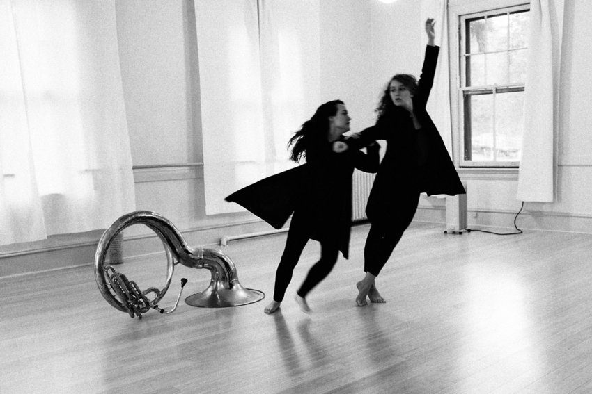 Phina Pipia (right) choreographed a dance duet that she and Rachel Campanoli (left) are set to perform this Saturday. Photo courtesy Ray Ketcham