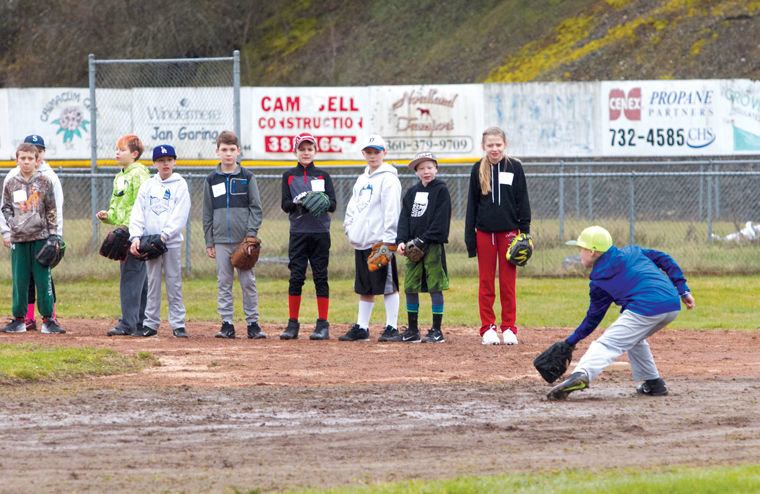 Baseball and softball players turning out for Port Townsend, South Jefferson and East Jefferson (pictured) Little Leagues have been through player try-outs. Enrollment is not as robust as in past years, when there were many more children in Jefferson County, leaving the respective league officials to form the most teams possible with the players available. East Jefferson's Opening Day Jamboree ceremony begins at 6 p.m., Monday, April 10. The Port Townsend Little League is in need of a volunteer umpire in chief, and volunteer umpires. Please contact Camron Jevne, PTLL president, at president@ptll.org or call 360-301-0453. Photo by Patrick Sullivan