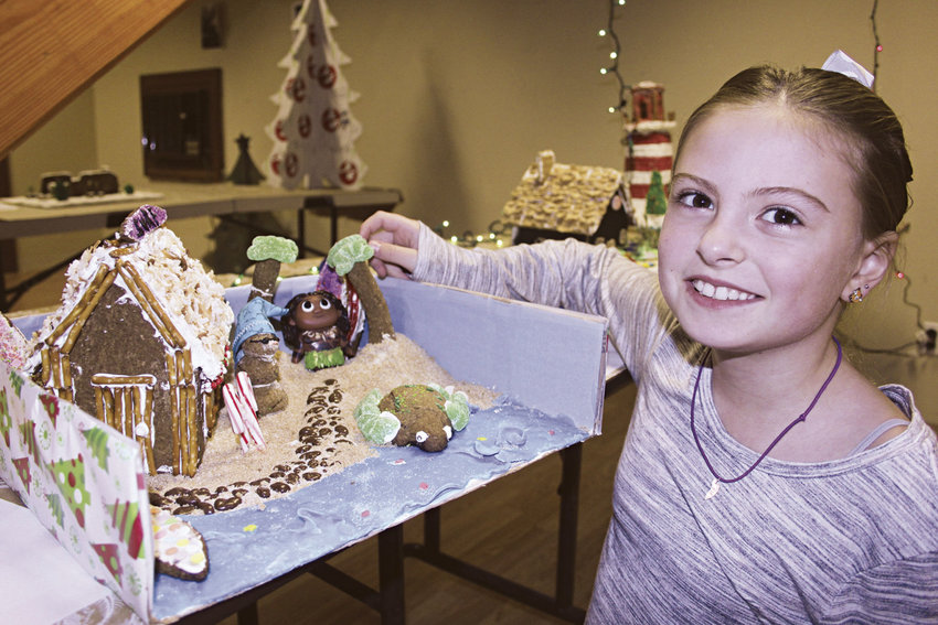 """Tilly Norton's """"Christmas at the Surf Shack"""" harks back to her time in Hawaii, before she moved back to Port Townsend. The creation was judged best in the individual builder category, ages 12 and younger. Photo by Kirk Boxleitner"""