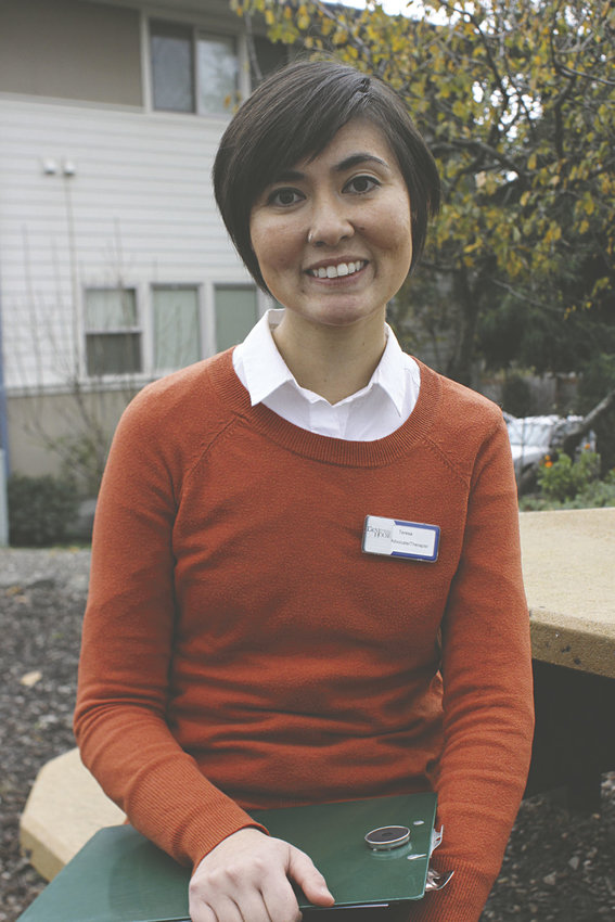 Teresa Shiraishi, a therapist at Dove House Advocacy Services, is hoping to hear from the community about how the nonprofit agency can work to expand programs in Jefferson County aimed at preventing domestic violence, not just responding to it after it occurs. Photo by Allison Arthur