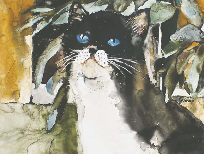 Sandy Guinup is one of 12 artists whose work is featured in the Humane Society of Jefferson County's 2017 calendar. Meet with the artists and see their work at the Spice and Tea Exchange during First Saturday Art Walk. Courtesy image