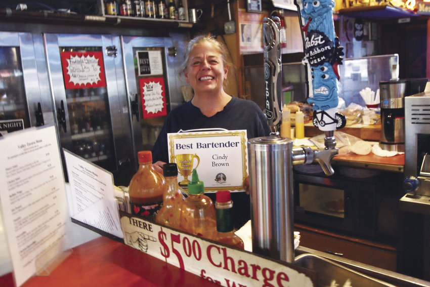 """Cindy Brown at the Valley Tavern in Port Hadlock is pleased to represent all servers as """"Best Bartender."""""""