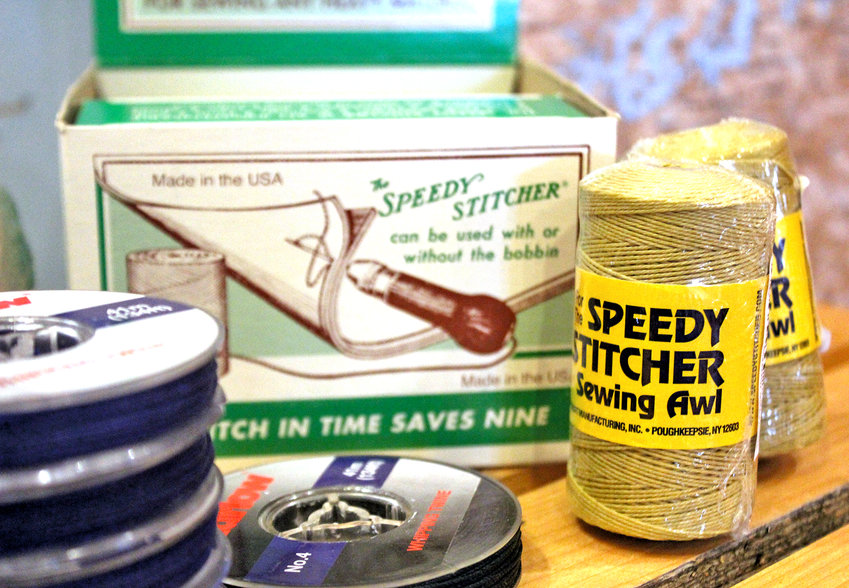 The Wooden Boat Chandlery sells many items for self-sufficient sailors, such as Speedy Stitcher needles and thread, which come in handy for sail repairs on the open ocean.