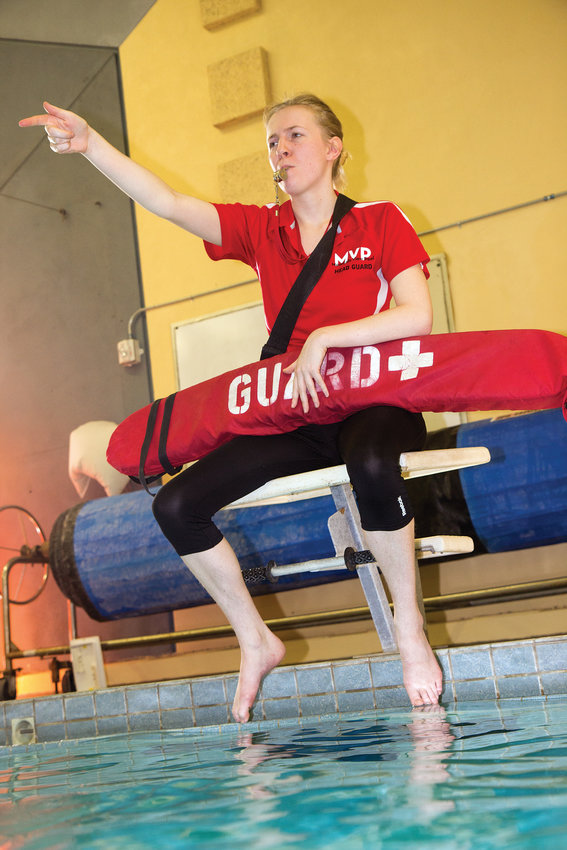 After taking over the REDfins Swim Club in 2016, Emily Harrenstein has worked to create a fun environment that has resulted in major growth in the program.