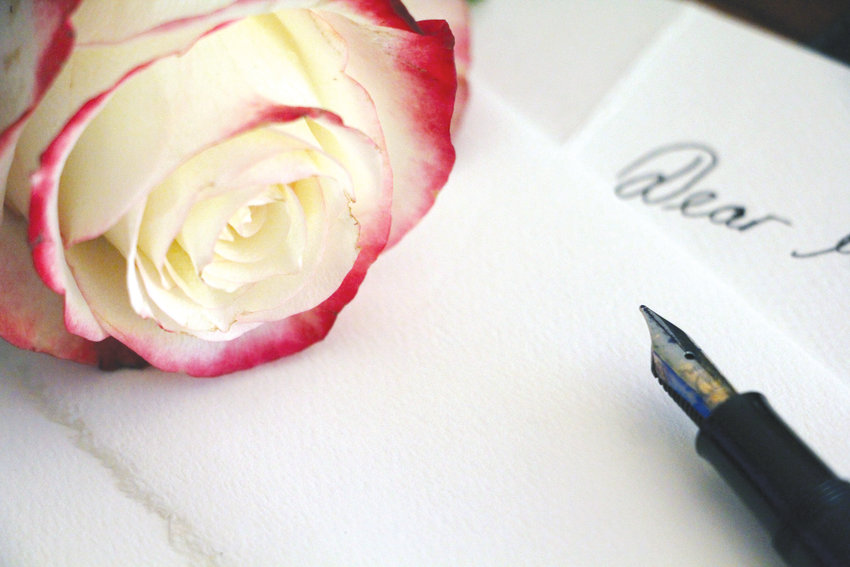 Brush off your typewriter or get out your fanciest pen and paper to write a letter to your loved one this Valentine's Day.