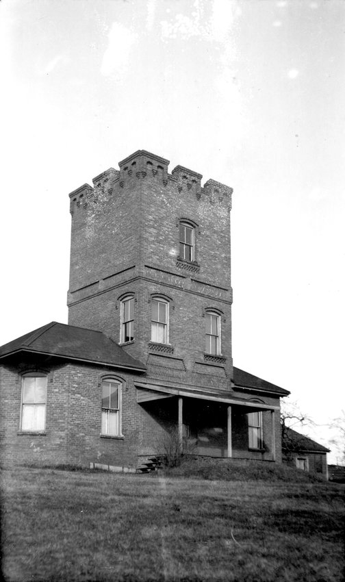 A 1910 photo of Alexander's castle, now one of Fort Worden's most popular destinations.