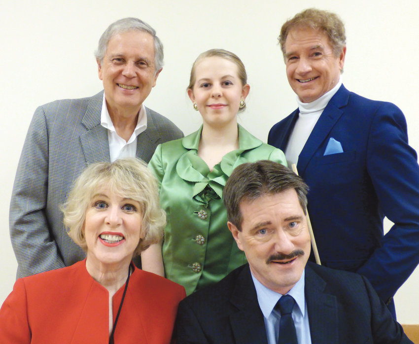 """The cast of """"No Crime Like the Present"""" is preparing for opening night, set for 7 p.m. March 29 at the Bay Club, 120 Spinnaker Place, Port Ludlow."""