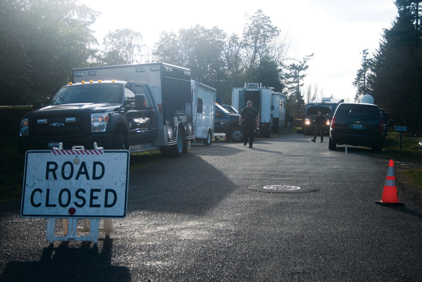 The Port Townsend Police Department and the Federal Bureau of Investigation were among the law enforcement personnel on scene at an alleged drug house in Port Townsend March 28.