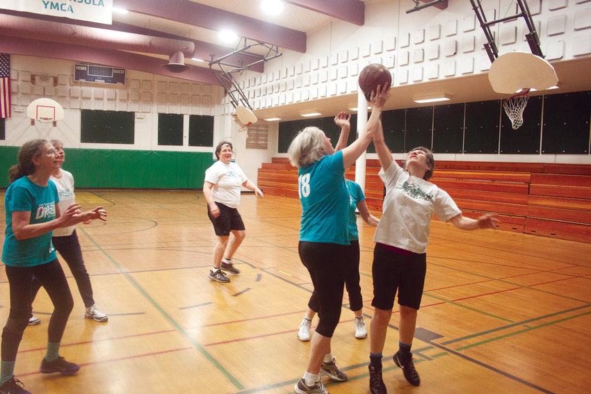 """Members of the """"Drizzle"""" women's basketball team continue to use the gymnasium at the Mountain View campus of the YMCA of Jefferson County every Wednesday and Saturday, and branch manager Jessie Wedmore hopes to keep the space open during renovations."""