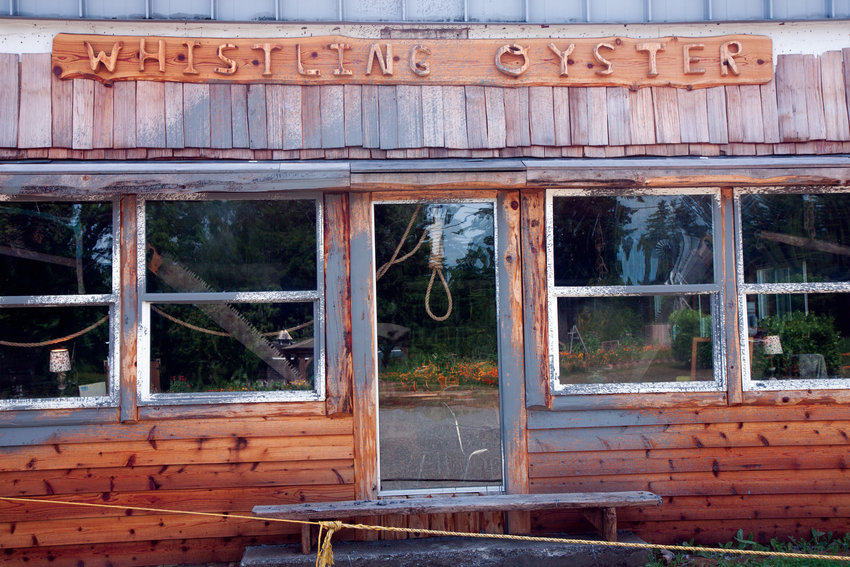The noose in the window of the Whistling Oyster Cafe in Quilcene has drawn attention from the public, and calls to the Jefferson County Sheriff's Office, since April.