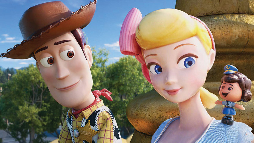 Sheriff Woody (Tom Hanks) and  the sassy Bo Peep (Annie Potts) are reunited in 'Toy Story 4.'
