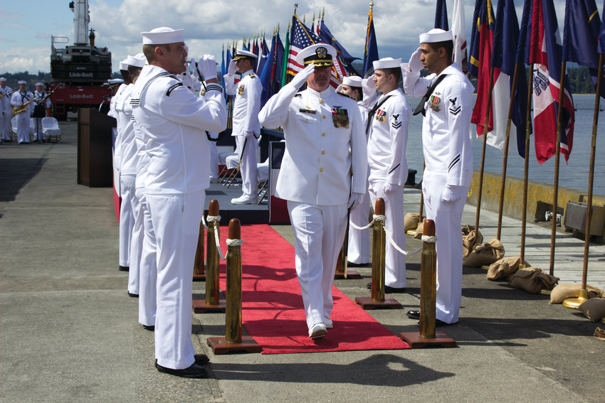 Outgoing Commanding Officer Cmdr. Rocky Pulley officially departs Naval Magazine Indian Island June 28.