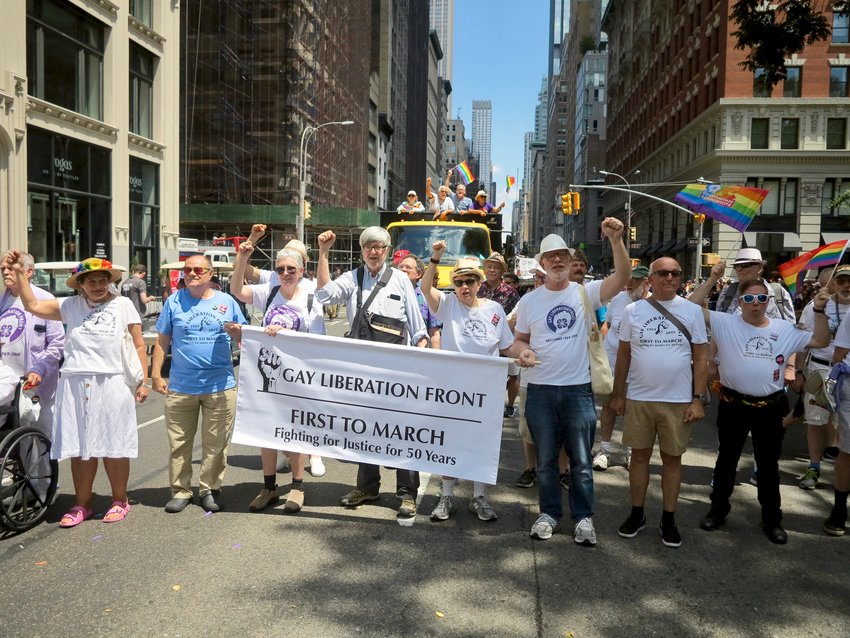 The author joined Gay Liberation Front activists in New York for Stonewall 50 events.