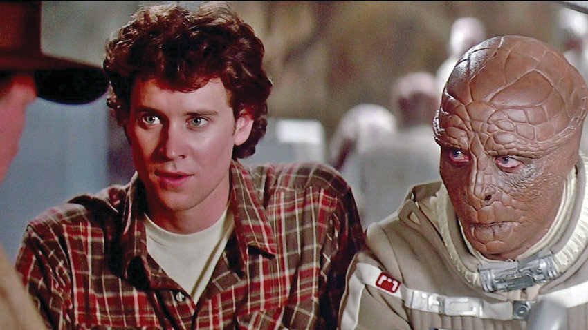 """From left, Alex Rogan (Lance Guest) and Grig (Dan O'Herlihy) in """"The Last Starfighter."""""""