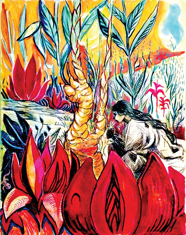Flowers and animals are often at the center of Kira Mardikes' art, which are usually pen and ink drawings.
