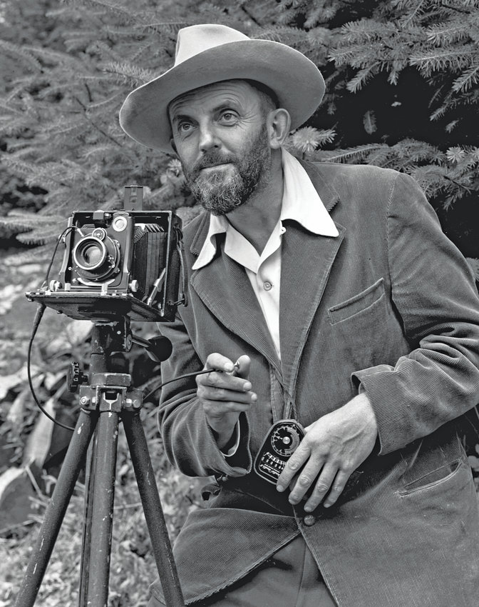 Ansel Adams' photography became famous nationwide. He spent much of his time outdoors capturing natural scenes in black and white. This photo appeared in the 1950 Yosemite Field School Yearbook.