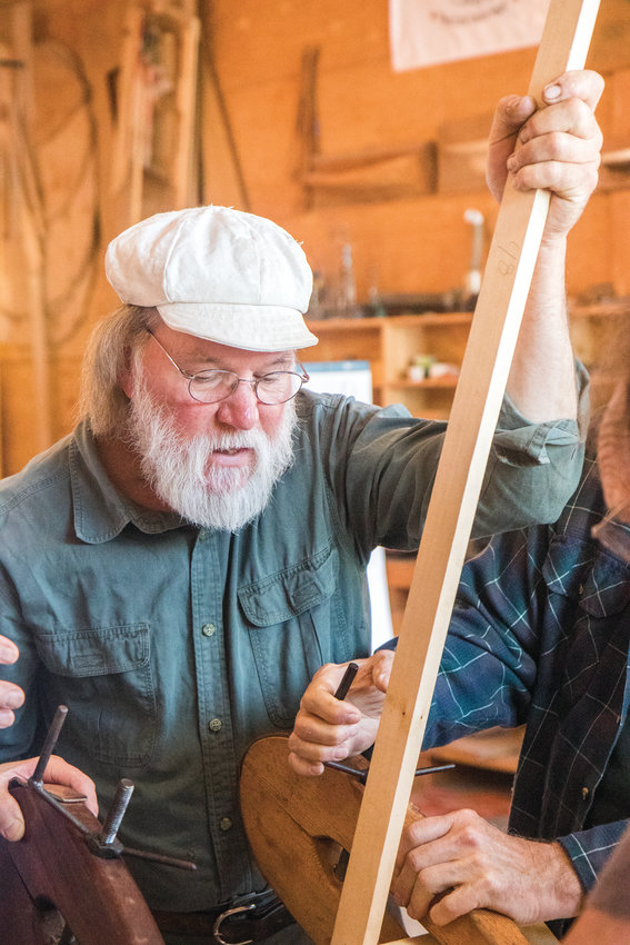 Jay Smith has been studying the art and science of Viking boat building since he was 27 years old. Now, he passes on the skills to new boat builders at the Northwest Maritime Center during a class from July 29 to Aug. 9. Stop by the Center's boat shop at 431 Water St. to peek your head in and see its progress.