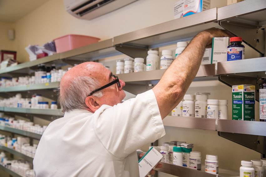 At the new pharmacy in Port Ludlow, pharmacist Normand Richard is able to see patients in southern Jefferson County who might not want to drive up to Port Townsend or Port Hadlock to pick up medications.