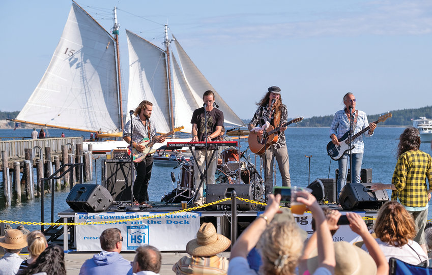 One of the stops for participants of the pre-THING Soundcheck is Concerts on the Dock, a free concert series produced by Port Townsend Main Street Program that takes place from 5 to 7:30 p.m. Thursday at Pope Marine Park. This week features The Whole Bolivian Army. Seen here is Daring Greatly, who performed Aug. 15.