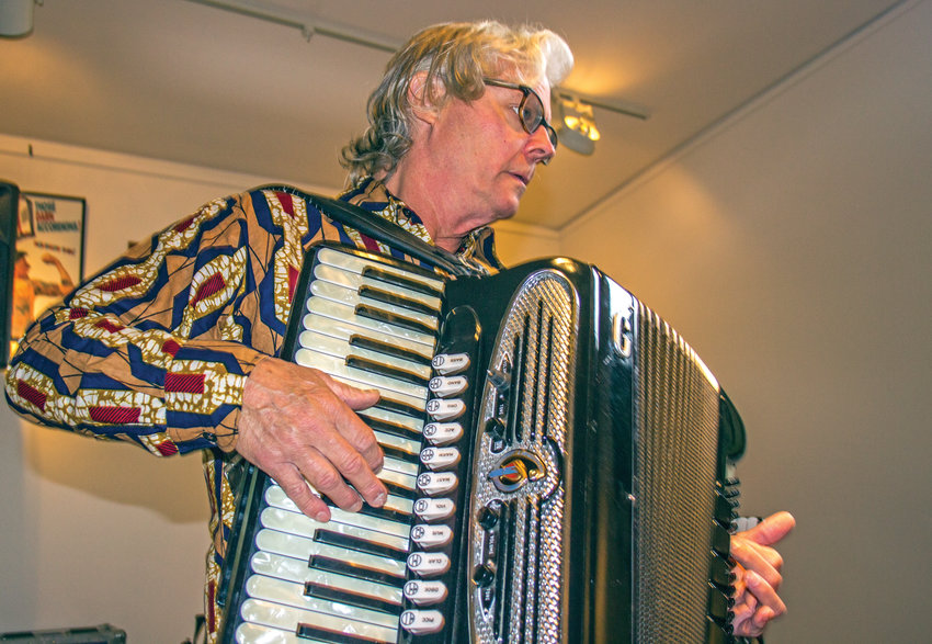 Once averse to the instrument, Paul Rogers now is an accordion enthusiast devoted to improving his skill.
