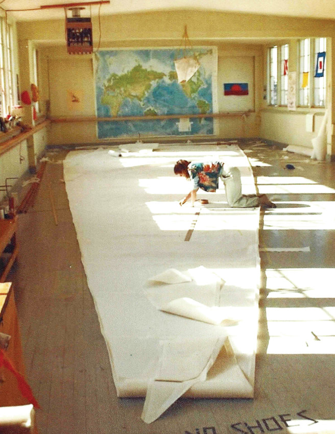 For the first two and a half years after opening Port Townsend Sails, Carol Hasse slept in her sail loft where, in the daytime, she and her business partner Nora Petrich cut and sewed sails by hand.