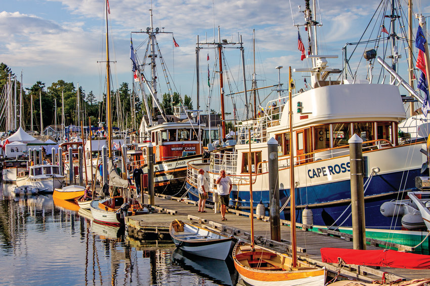 Each September, wooden boats crowd the docks at the Point Hudson Marina for the annual Wooden Boat Festival. But this year, the festival has been canceled. It is one of many summer events in Port Townsend that has been canceled or postponed to prevent large groups from congregating and spreading the coronavirus, which has now killed more than 56,000 people in the United States. Leader file photo from 2019