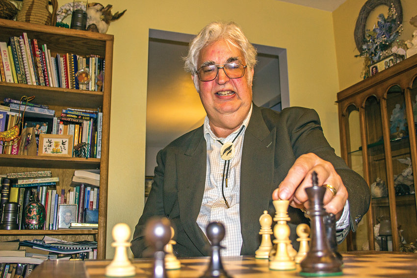 Stephen Chase, 70, belongs to the Knight Riders, which has won the Division Two Title of the Correspondence Chess League of America's Postal Chess Team Championship multiple times over the past several years. Chase is a substitute teacher who specializes in science and math.