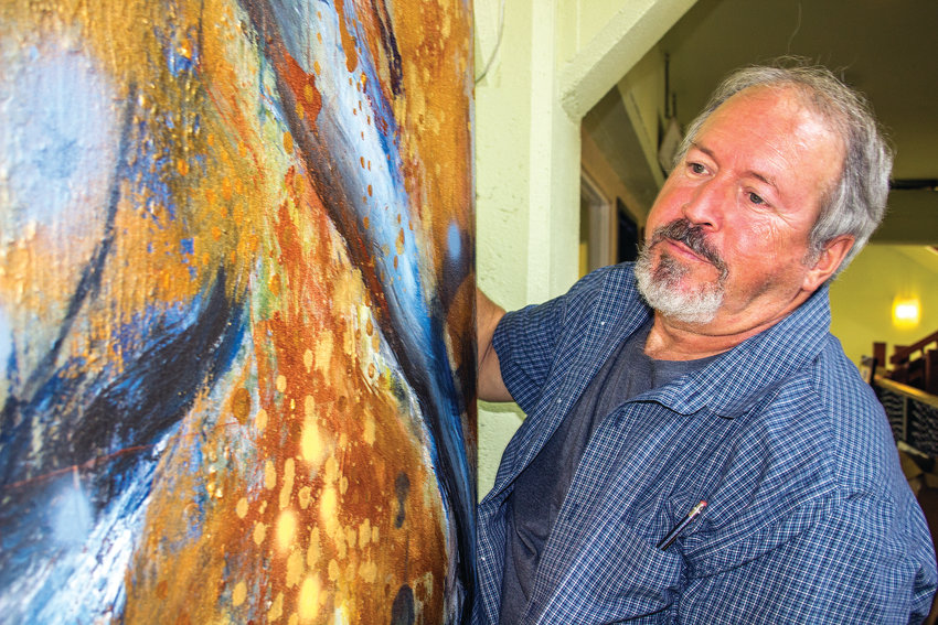 For Stephen Yates, painting the cosmos is a discovery process, both of himself and the universe around him. His works will be on display this month at the Old Alcohol Plant in Port Hadlock.