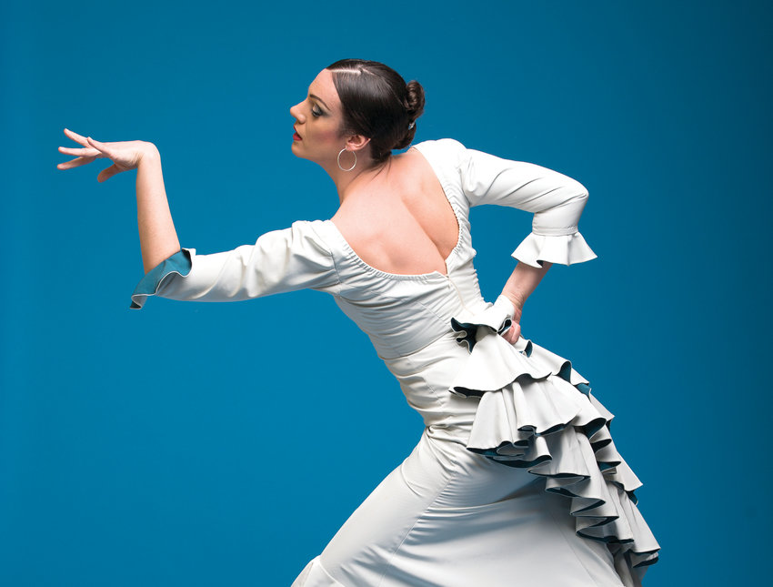 """Seattle-based flamenco dancer, Savannah Fuentes, brings her latest show, """"Sky: An evening of Flamenco,"""" to the Chameleon Theater 800 W. Park Ave. in Port Townsend at 7:30 p.m. Nov. 2 at the Chameleon Theater. Tickets are available at www.brownpapertickets.com."""