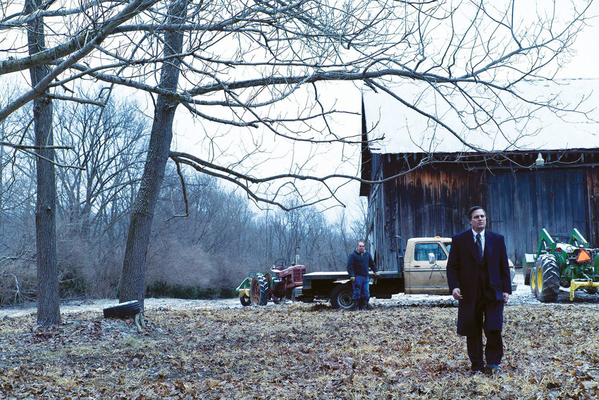 """Mark Ruffalo surveys the damage done to a West Virginia farm by its neighboring landfill in """"Dark Waters."""""""