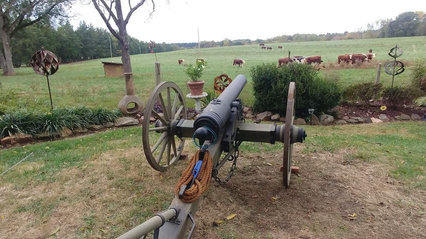 """Yes, the cannon. My cousins have a real working cannon! ... They loaded it just like you see in the movies, then inserted the fuse and lit it. And waited, and waited ..."""