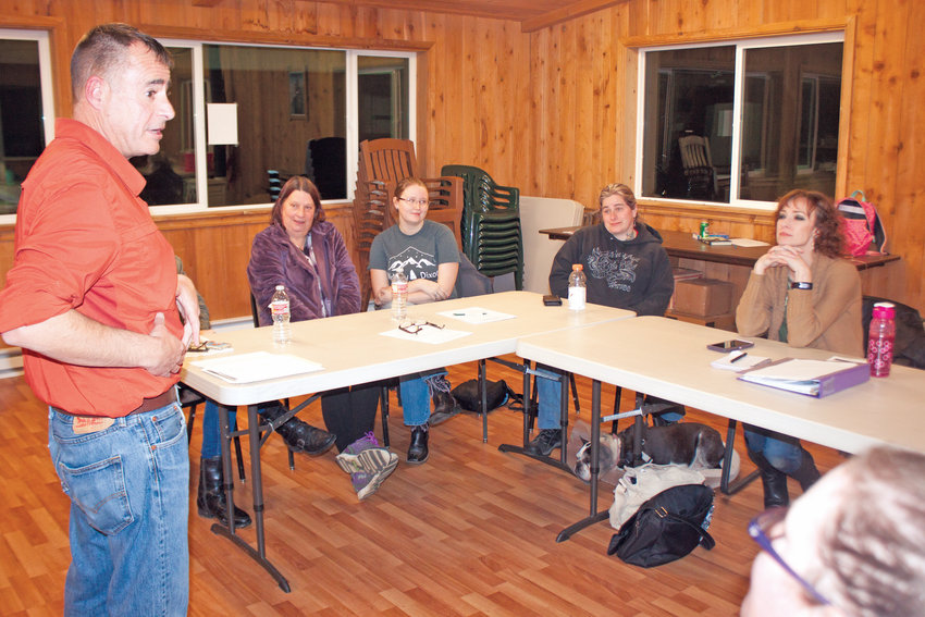 Firearms safety instructor Stan Neville has been but one of the speakers to provide classroom lessons to members of the Jefferson County Sportsmen's Association chapter of The Well-Armed Woman program, as they prepare for practice time on the shooting range in the spring of 2020.