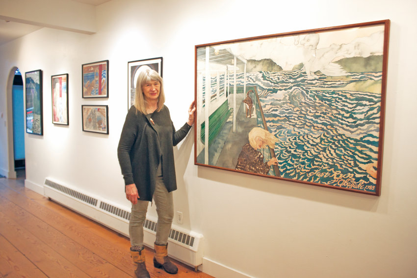 Port Townsend painter Linda Okazaki will discuss the role of storytelling in her works, which are displayed at the Port Townsend School of Arts' Grover Gallery, when she takes part in the Art Salon at the Northwind Arts Center on Wednesday, Jan. 15.
