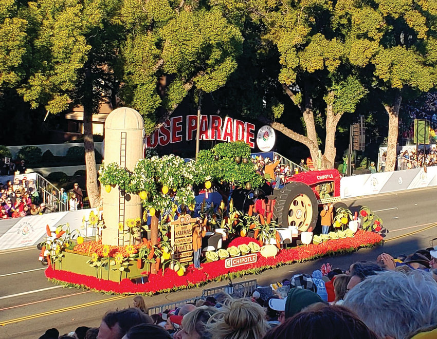 "Local florist Sharrai Morgan was a flower design team float leader for the Fiesta Parade Float Company at this year's Tournament of Roses Parade in Pasadena, California, and her main float was the Chipotle-sponsored float ""Cultivate the Future of Farming,"" which won the Grand Marshal's Award for Most Outstanding Creative Concept and Float Design."