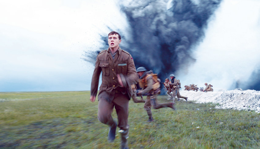 "In spite of its impressive cast, it's the visuals that are the true star of Sam Mendes' ""1917,"" which puts the viewer on the front lines of World War I."