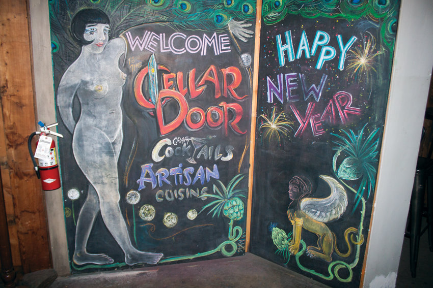 The Cellar Door's entrance remains as artistic as ever.