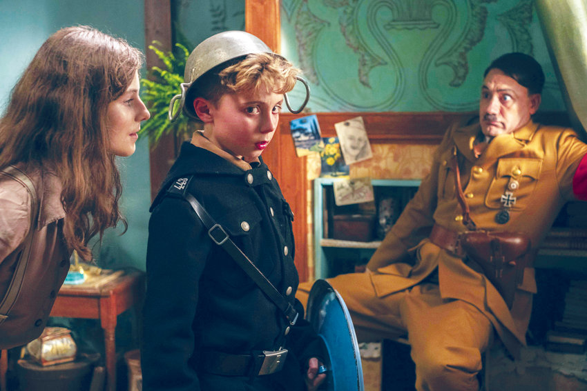 "A Jew in hiding, a Hitler Youth and an imaginary Adolf Hitler himself struggle to come to terms with each other in ""Jojo Rabbit."""