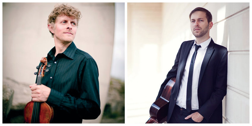 """Gypsy jazz"" violinist Tim Kliphuis (left) and guitarist Jimmy Grant are set to perform at Rainshadow Recording on Wednesday, Feb. 26."