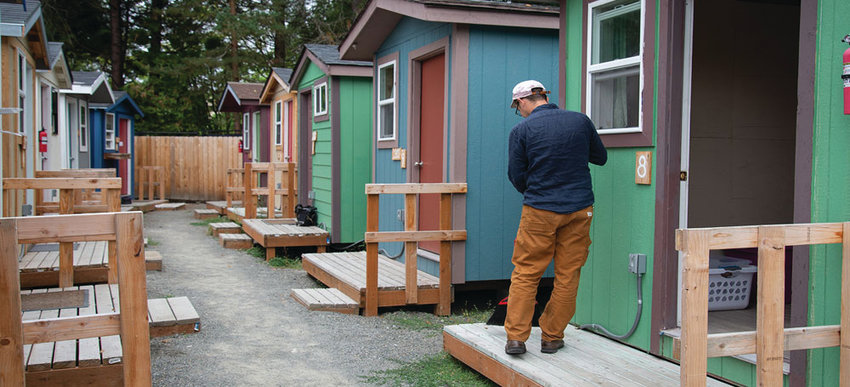 This tiny home village was built by the Low Income Housing Institute in Olympia. It is similar to what Bayside hopes to build in Jefferson County to help house farmworkers in the Tri-Area. Photo courtesy Low Income Housing Institute