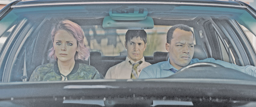 """Katia Winter, Justin Long and Donald Faison come down from a bad trip, in more ways than one, in """"The Wave."""""""