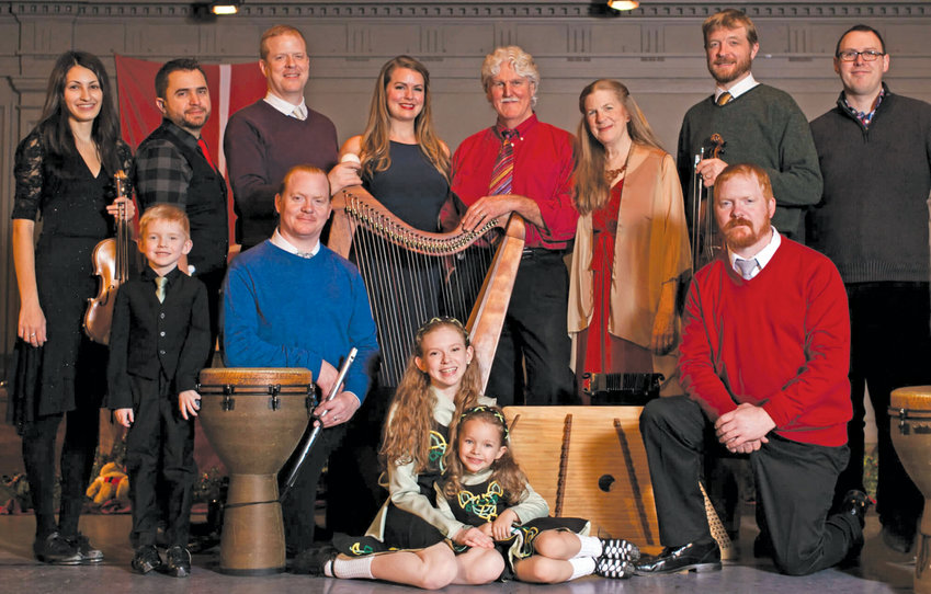 """What started as a duet became an ensemble with the Irish band """"Magical Strings,"""" playing in Port Townsend on Sunday, March 15."""