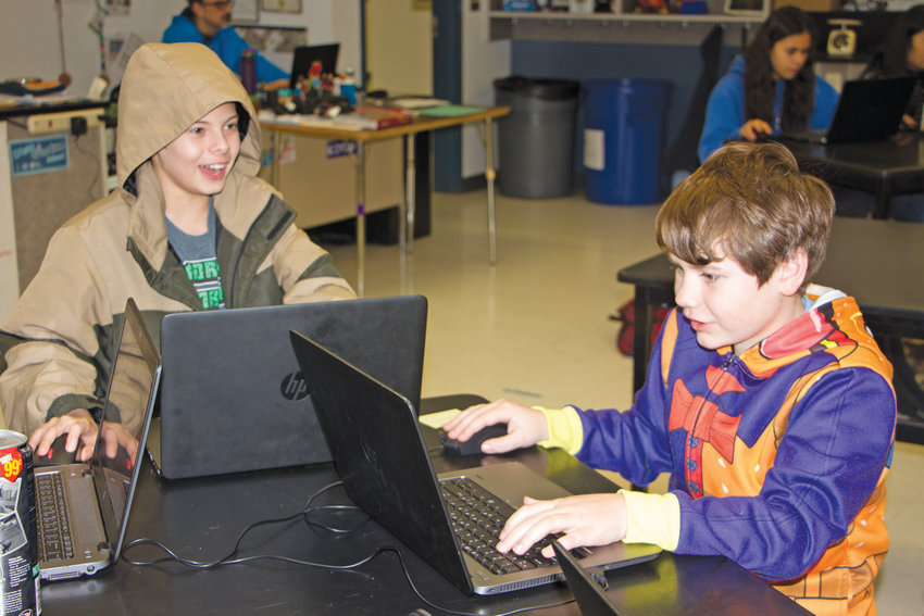 Al Gonzalez's sixth-grade students at Chimacum Elementary School show up an hour and a half early to play Minecraft competitively against students from England.