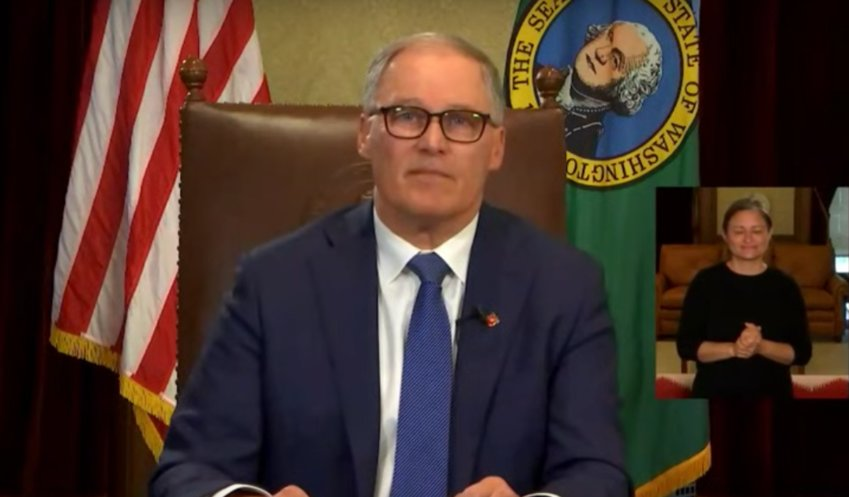 "Gov. Jay Inslee announced a ""stay-at-home"" order on March 23."