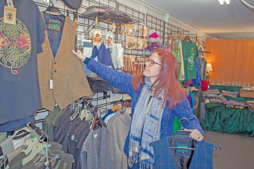Debbie Sonandre, owner and operator of Celtic Crossroads NW at 2205 E. Sims Way in Port Townsend, is grateful for the community's continued support since her family's business moved from Water Street at the start of the year.