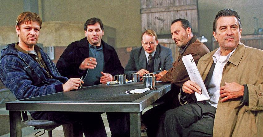 "From left, Sean Bean, Skipp Sudduth, Stellan Skarsgård, Jean Reno and Robert De Niro get ready to do the job in ""Ronin."""