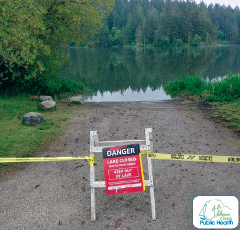 """Washington State Parks staff have posted """"Danger – Lake Closed"""" signs at access points to the Anderson Lake State Park, alerting visitors of the potential hazards."""