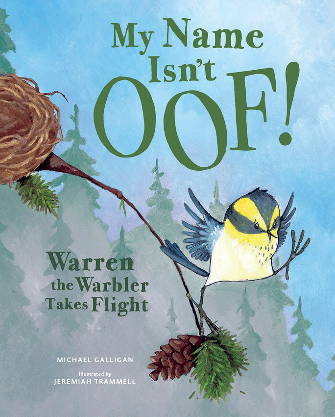 "Michael Galligan, the local author of ""My Name Isn't Oof! Warren the Warbler Takes Flight,"" will read to children online through the Port Townsend Public Library's weekly series of ""Bedtime Stories"" continues on Monday, Aug. 27."